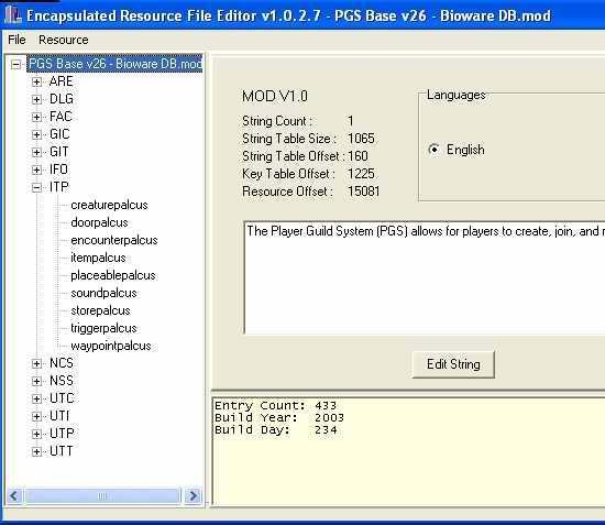 Encapsulated Resource File Editor 1.0.2.7: obr.č.2 - Exportování prázdné palety z modulu